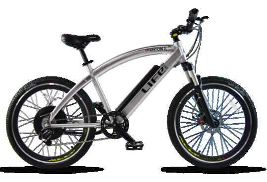 Life EV Life Electric Bicycles Phantom XR Crusier Silver